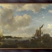 Картина С голландской яхты стреляют салют, Каппель, Ян ван де фото