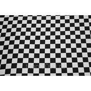 Ткань сумочно - обивочная, черно - белая клетка фото