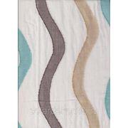 Цветной тюль с вертикальными волнами фото