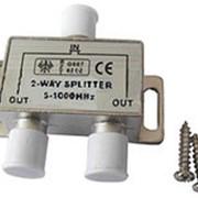 Телевизионный сплиттер 2 way 5-1000 МГц фото
