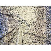 Пальтовая ткань набивная сиренево - белая фото