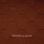 Черепица гибкая Icopal Plano Natur кирпично-красная фото