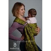 Слинг с кольцами для новорожденных и старше тм Наш слинг Лиана жаккард фото