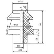Изолятор фарфоровый проходной ИПТ-1/3150.01 фото