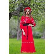 Платье с вышивкой П16-261 фото