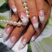 Французское наращивание ногтей фото