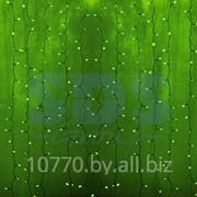 """Гирлянда """"Светодиодный Дождь"""" 2х3м, постоянное свечение, прозрачный провод, 220В, диоды ЗЕЛЕНЫЕ фото"""