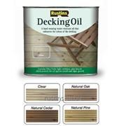 Цветные масла для террас (бесцветный) DECKING OIL CLEAR, 2,5 литра фото