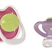 Пустышки. Пустышка ортодонтическая набор из 2-х от 0 до 6 месяцев. фото