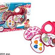 Аксессуары для девочек косметика для кукол сердце 3 яруса ногти тени помада лак в коробке вн:b6205 уп:28х28х4см фото