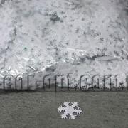 Фетровые заготовки-снежинки белые 2,5 см 2000 шт 570750 фото