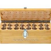 Комплект магнитов в деревянном чемоданчике фото