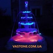 Фонтан с бассейном парковый, садовый (с подсветкой фото