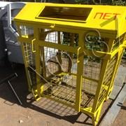 Евроконтейнер для сбора ПЭТ, мусорный бак для плас фото