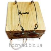 """Мышеловка """"Норка"""" на два отверстия, ловушка для мышей с двумя отверстиями деревянная механическая Мышеловка/Ameks/Н2 фото"""