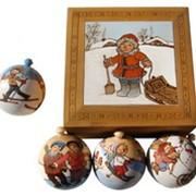 """Новогодние игрушки Набор шаров """"Зимние забавы"""" фото"""