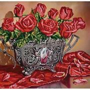 Схема для частичной вышивки бисером Соблазнительные розы фото