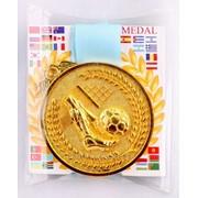 Медаль рельефная футбол - золото фото