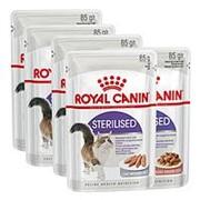 Royal Canin 4+1*85г пауч Sterilised Влажный корм для взрослых стерилизованных кошек (соус+паштет) фото