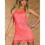Короткое кружевное платье фото