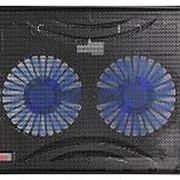 """Подставка для ноутбука Buro BU-LCP156-B214 15.6""""358x270x21мм 1xUSB 2x 140ммFAN 597г металлическая сетка/пластик черный фото"""