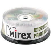 Оптический диск DVD-R 4.7 Гб Mirex 16-ск. с поверхностью для струйной печати в упаковке 25шт. фото