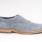 Туфли серо-голубые замшевые Berkelmans фото
