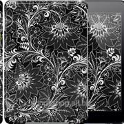 Чехол на iPad 5 Air Чёрно-белая хохлома 1092c-26 фото