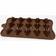 "Силиконовая форма для шоколада, мармелада, льда ""Пирамидка"" фото"