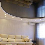 Глянцевые и матовые натяжные потолки фото