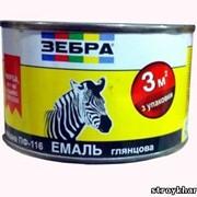 Эмаль алкидная ПФ-116 ЗЕБРА цвет Серебристый № 20 (0,3 кг) фото