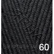 Пряжа для вязания Лана голд 60 черный фото