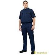 Костюм офисный МО короткий рукав RipStop-170 синий фото