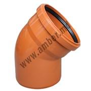 Колено ПВХ канализация д.160/45 (5124) фото
