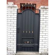 Дверь автоматическая из кованого железа №3 фото