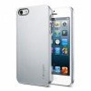 Пластиковая накладка SGP Ultra Thin Air Series для Apple iPhone 5/5S (+ пленка) (Серебряный / Satin Silver) фото