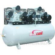 AIRCAST CБ4/Ф-500.LB75T компрессор поршневой с горизонтальным ресивером фото