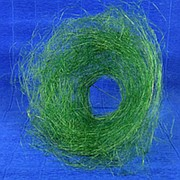 Каркас для букета 25см сизаль гнездо зеленый фото