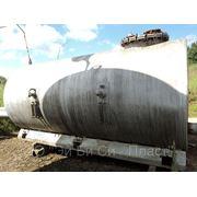 Емкость горизонтальная стальная на 4 м3 (РГС-4), с ложементами фото