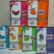 Вафельные и махровые полотенца Мимоза Туркиз фото