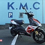 Скутер Aprilia SR 50 R гоночная модификация последняя модель Replica пробег 0 км New Bike черный белый фото