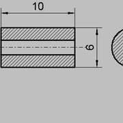 Изолятор БФЦ 4/6/10 (Для термопар) Буса фарфоровая цилиндрическая фото
