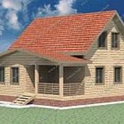 Проект Дом из проф.бруса №15 (8х8) фото