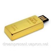 Флешка 8gb металл Слиток золота фото