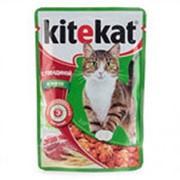 Корм для кошек KITEKAT с говядиной в желе, 100 г фото