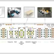 Планировка офисного помещения в 2D/3D фото