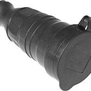 Розетка каучук перенос. с защитной крышкой 230В, 2Р+РЕ, 16А, IP44, PROxima фото
