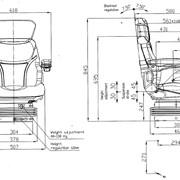 Тракторное сиденье SEAT ACTIVE PLUS Италия (МТЗ) фото