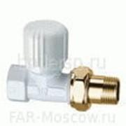 """Вентиль прямой терморегулирующий 1/2"""" ВР, золото/белая эмаль LadyFAR, артикул FL 0230 12 фото"""