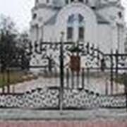 Ворота кованые. фото